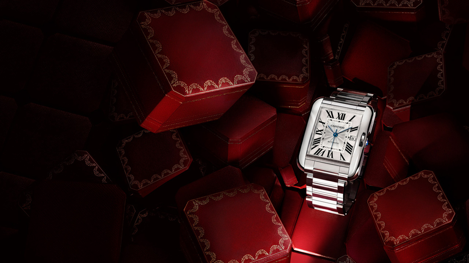 blue steel pointer fake Cartier Tank Anglaise