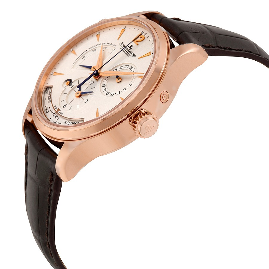 Jaeger LeCoultre Master Control Geographic Automatic Silver Dial 18kt Pink Gold Men's Watch Q1422521