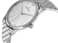 Jaeger LeCoultre Master Control Grande Ultra Thin Silver Dial Stainless Steel Men's Watch Q1358120