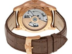 Jaeger LeCoultre Master Grand Tradition Tourbillon Beige Dial 18kt Rose Gold Brown Alligator Men's Watch Q1662510